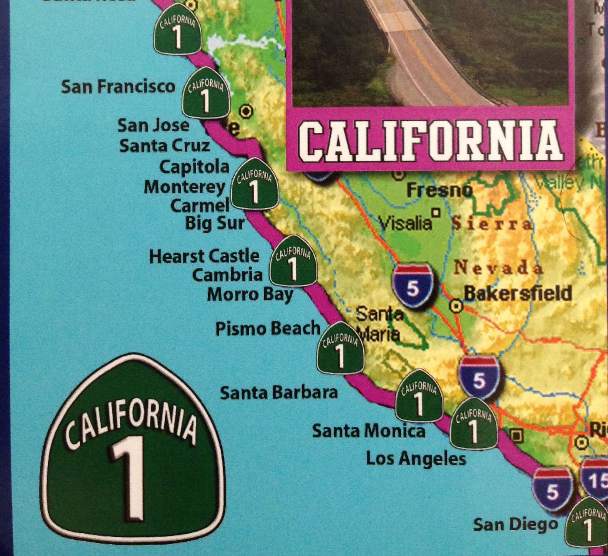 California Map Coastal Drive.Can T Stay Put Csp California Coastin With Cat